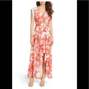 ElizaJ Surplice Obi High/Low Dress 6P NWT